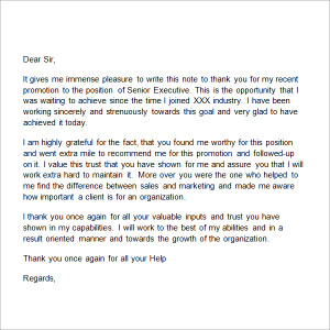 Thank You Letter To Boss from www.freesampleletters.org